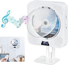 Tragbarer CD Player Gueray Wandmontage Bluetooth Eingebaute HiFi-Lautsprecher FM-Radio..