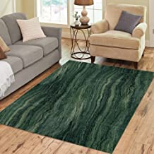Semtomn Area Rug 5' X 7' Stone Green Marble Abstract Pattern Modern Emerald Onyx Rock Home Decor Collection Floor Rugs Carpet for Living Room Bedroom Dining Room