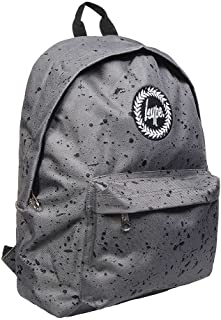 7792df7a5 HYPE Mens / Boys Grey Backpack - Rucksack Bag Splatter Charcoal with Black