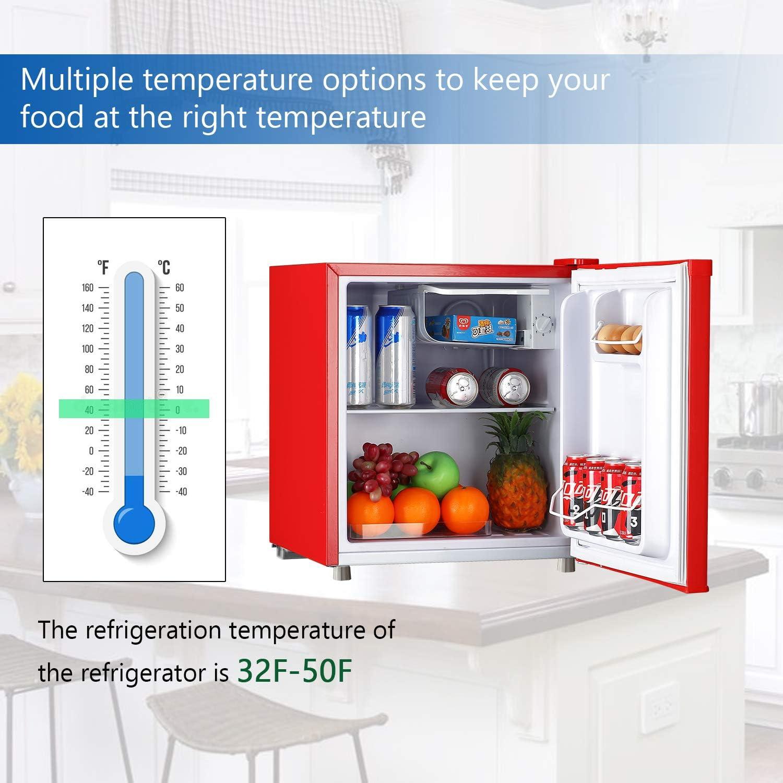 Buy WANAI Compact Refrigerator 9.9 Cubic Ft Classic Retro Mini ...