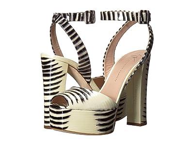 Giuseppe Zanotti Betty Platform Sandal (Raya Bianco/Nero) Women