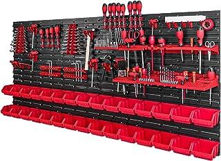Gereedschapswand met stapelboxen - 1728 x 780 mm - opslagsysteem set gereedschapshouders en 30 stuks doos - wandrek werkpl...
