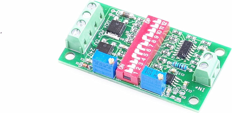 KNACRO Current to Voltage 4-20ma to 0-3.3V 5V 10v Voltage to Current 0.-5v 10v to 4-20ma Current to Current 0-20ma to 4-20ma OR 4-20ma to 0-20ma