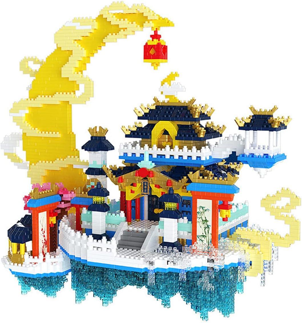 QREZ 4898 Pcs Architecture Moon Palace Spring new work 3D Model Spasm price Ed Child Puzzle