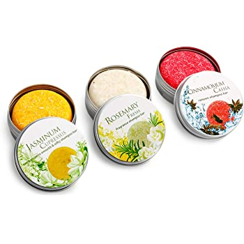 Djtanak Champú Sólido Organico 4 Pcs, Natural Herbal Champú para, Tratamiento de diferentes fragancias para la caida del pelo, anticaspa (Champú de jengibre, algas marinas, canela y menta): Amazon.es: Belleza