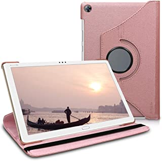 kwmobile Funda Compatible con Huawei MediaPad M5 Lite 10 - Carcasa de Cuero sintético para Tablet en Oro Rosa