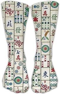 Unisex Casual Crew Socks Mahjong Tiles Fashion Novelty Socks