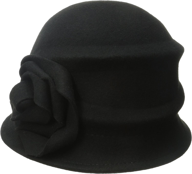 Betmar Women's Alexandrite Wool Trilby Hat with Flower Trim
