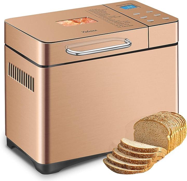 Macchina per il pane in acciaio inossidabile, macchina per il pane xl programmabile 19-in-1 2lb B07X6DL9YF