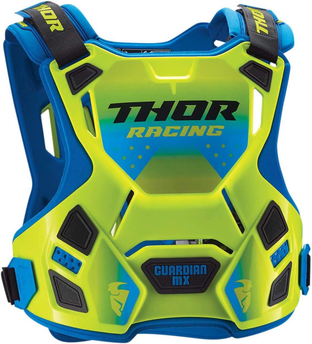 Thor Kids Brustpanzer Guardian Mx Flo Grün Blau Sport Freizeit