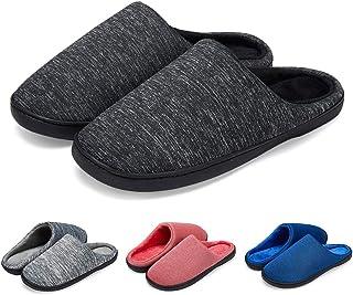 LK LEKUNI Chaussons Femmes Hommes Pantoufles Mémoire Mousse Souple Hiver Chaud Intérieure Slippers Anti-Slip Léger