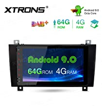 XTRONS 8 Inch Android 9.0 Car Stereo Radio Player Octa Core 4G RAM 64G ROM GPS Navigation Touch Screen Head Unit Supports Screen Mirroring WiFi OBD2 DVR TPMS for Mercedes-Benz SLK Class R171 SLK350