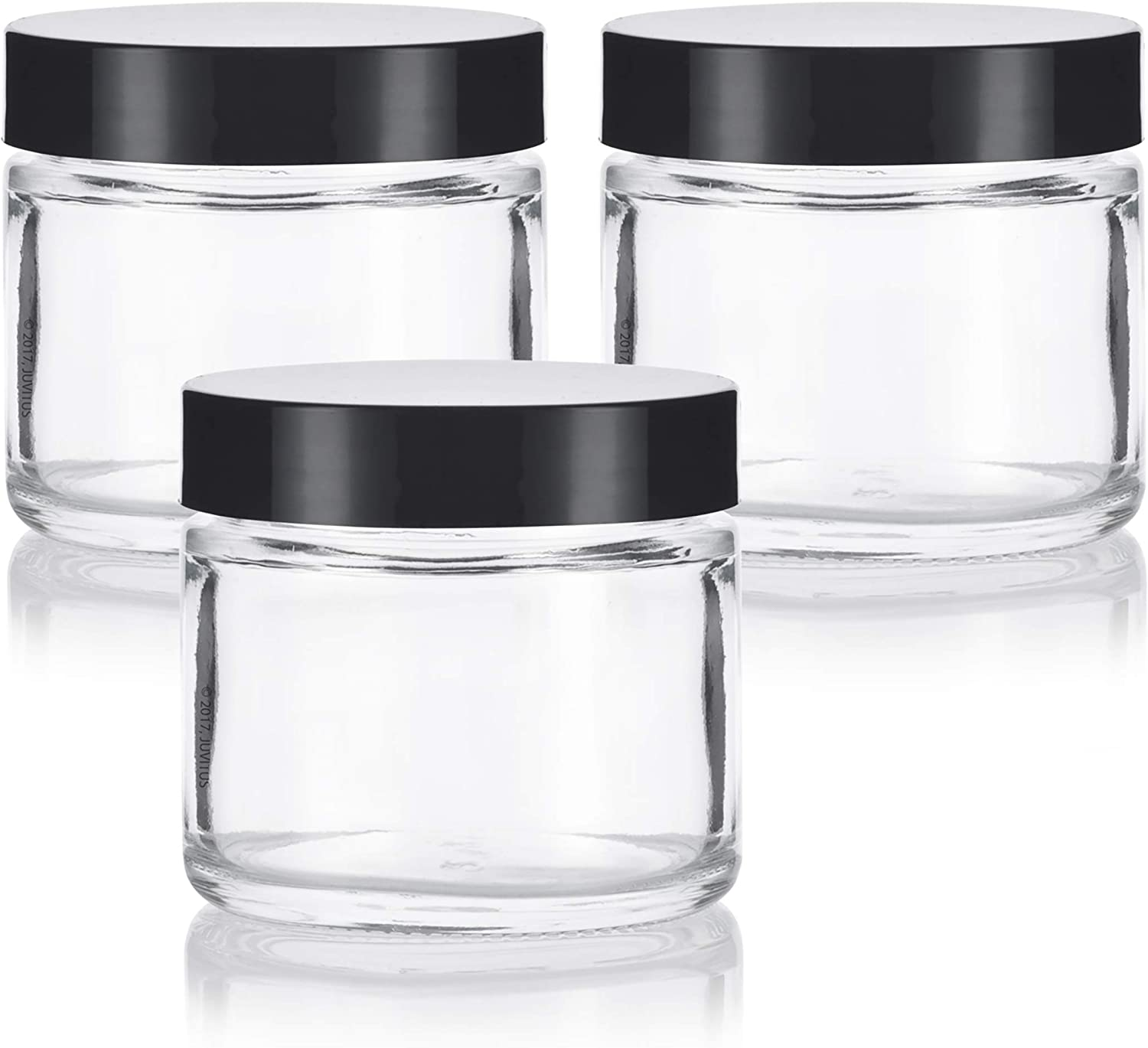 Clear Product Thick Glass Straight Sided Jar - 3 oz pack 60 2 Free Shipping New Air ml