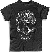Amazink Mania T-shirt voor heren, doodskop pixels,...