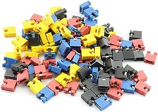 RuiLing 120-Pack 4 Color 30PCS Each Open Top 2.54mm Standard Computer Jumper Caps Shunts Short Circuit Cap
