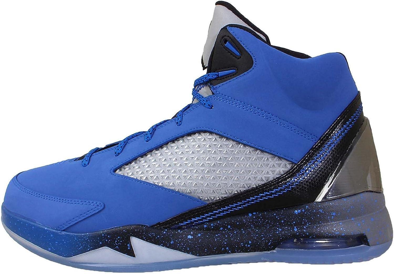 Nike Jordan Men's Air Jordan Flight Remix Basketball shoes-Sport bluee Black Cool Grey-8.5