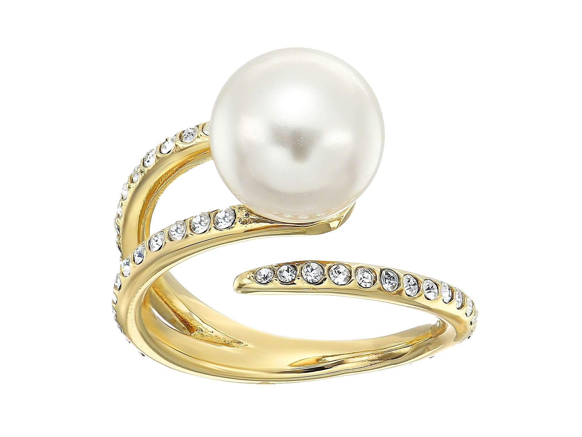 Anillo para Mujer Michael Kors Pearl Tone Pave Crystal and White Pearl Open Ring  + Michael Kors en VeoyCompro.net