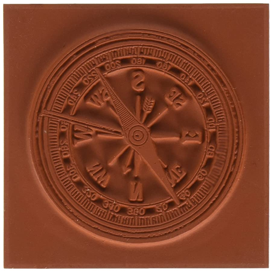 Deep Red Stamps Compass Rubber Stamp