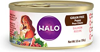 Halo Grain Free Natural Wet Dog Food, Puppy Salmon Recipe, 5.5-Ounce Can (Pack Of 12)