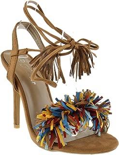 Rubina 57 Womens Fringe Open Toe High Heel Sandals