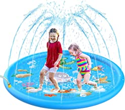 ColorHome Splash Pad Sprinkler for Kids - 68'' Outdoor Inflatable Water Splash Play Mat, Summer Water Toys for Toddlers,Boys and Girls
