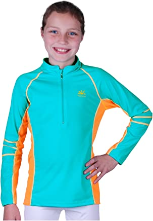 02b104131897c Nozone Girl s Long Sleeve Sun Protective Nautilus Swim Shirt - UPF ...