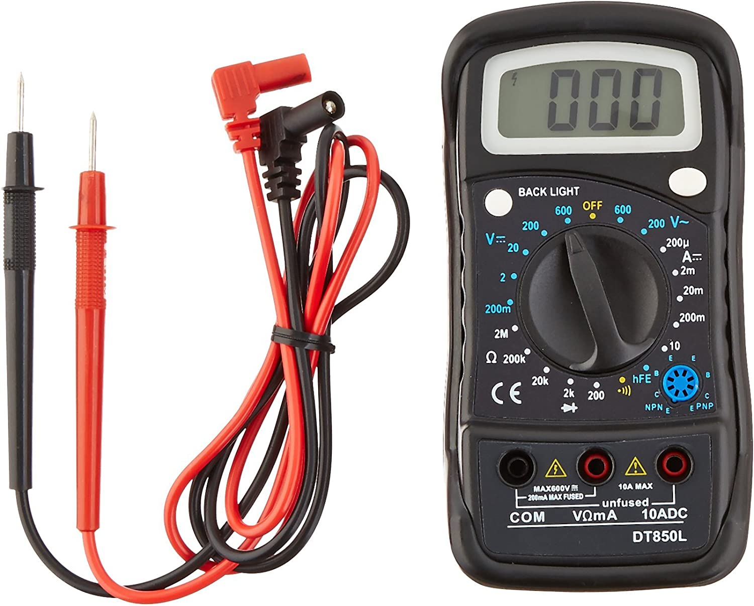 True Power Time sale Max 89% OFF Digital Multimeter with Illuminated Display Large LCD