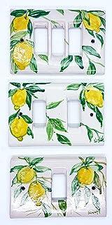 Placchette Bticino Magic Limoni Ceramica Handmade Le Ceramiche del Castello Made in Italy