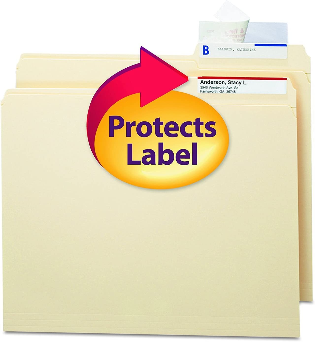 Smead 67600 Seal View File Label Folder Clear specialty shop Limited time trial price Lamin Protector