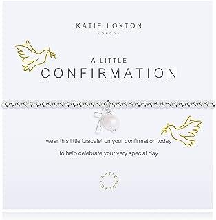 Katie Loxton A Little Follower of Christ Silver Women's Stretch Adjustable Charm Bangle Bracelet
