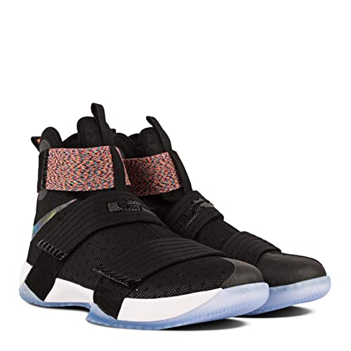354aba5afe3b NIKE Men Lebron Soldier 10 (Black Black-Cosmic Purple-Hyper Jade)