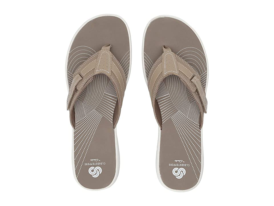 78e6e5704df4 Clarks Brinkley Reef Boxed (Taupe Synthetic) Women s Sandals