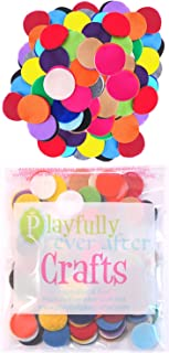Playfully Ever After 1 inch Mixed Color Assortment 100pc Felt Circles