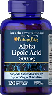 Puritans Pride Alpha Lipoic Acid 300 Mg, 120 Count