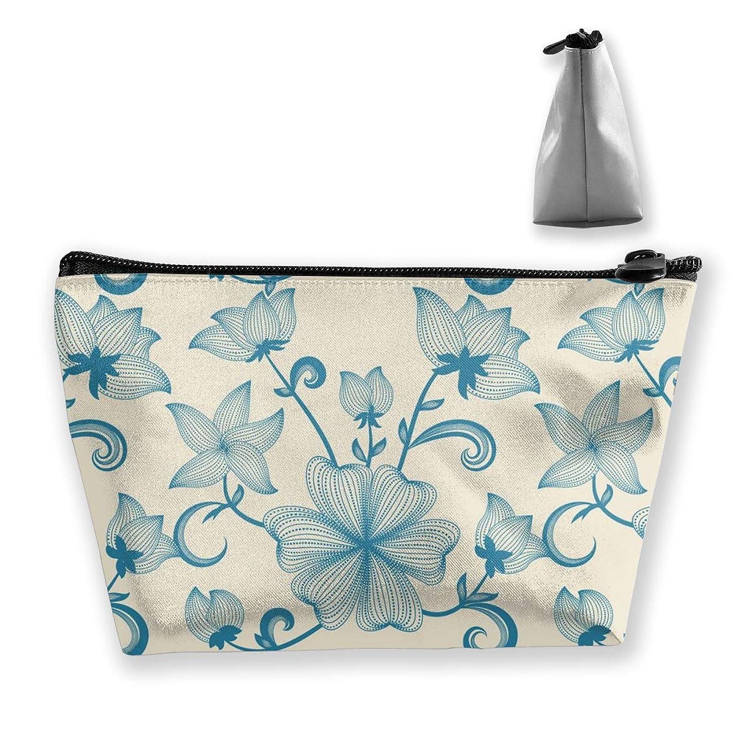 自分のコカインマッシュ収納ポーチ 花柄 バラ 化粧ポーチ トラベルポーチ 小物入れ 小財布 防水 大容量 旅行 おしゃれ