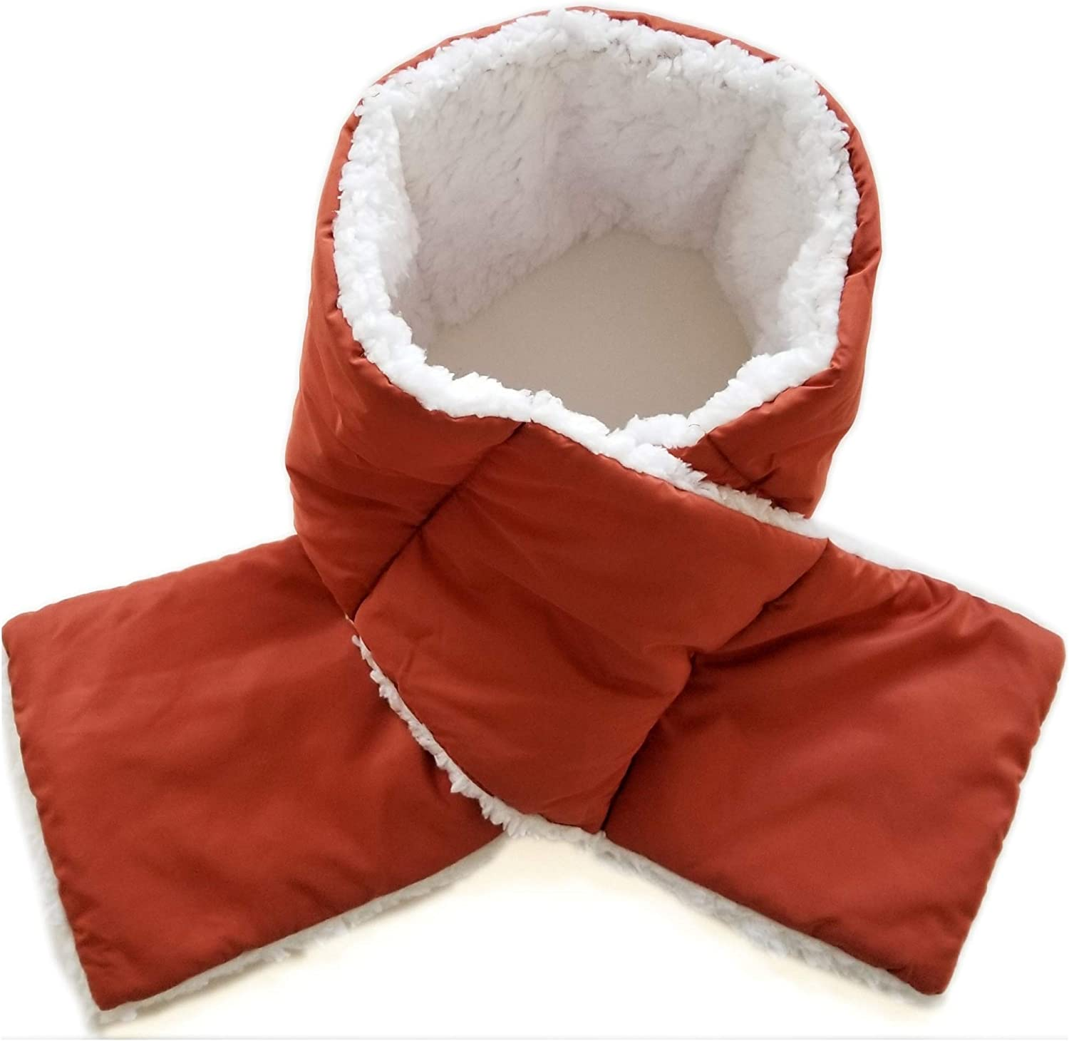 35% OFF Women's At the price of surprise Soft Sherpa Lined Through Scarf Pull Puffy