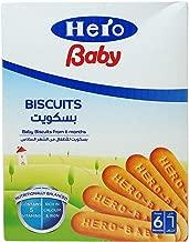 هيرو بيبي طعام اطفال اخرى لعمر 6 اشهر - 1 سنة - بسكويت