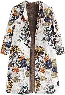 Whitegeese - Chamarra de Forro Polar para Mujer, diseño Floral