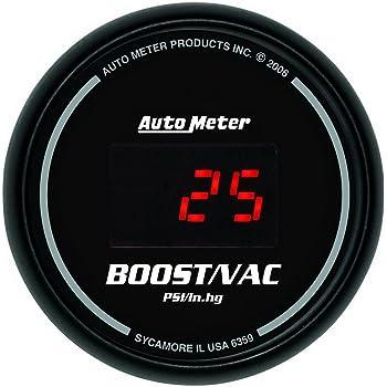 Chrono Vac//Boost AutoMeter 8159 Gauge Digital Stepper Motor 30Inhg-30Psi 2 1//16