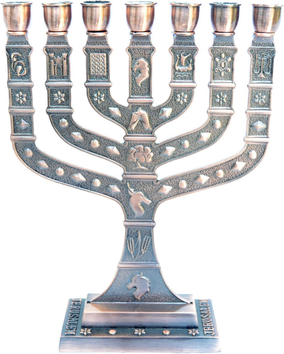 Menorah Menora Holyland 7 Branches Jerusalem Miami Mall Ranking TOP2 12 of Israe Tribes