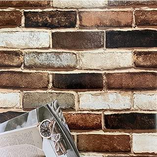 Realistic Brick Wallpaper Peel and Stick Wallpaper Brick Wallpaper Removable Wallpaper Brick Wallpaper Self Adhesive Wallpaper Stick and Peel Faux Brick Wallpaper 3D Wall Paper Vinyl Roll 197