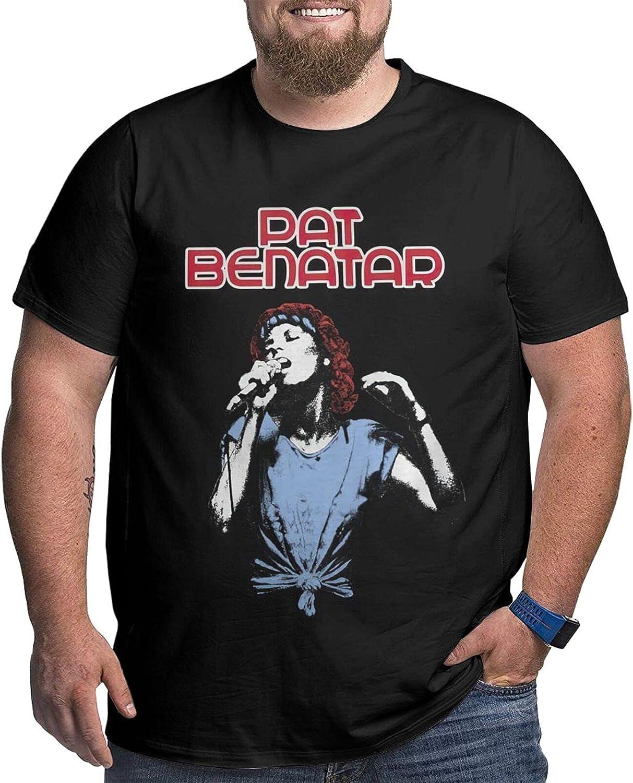 SOXCOLOT Pat Benatar Male Shirt Casual Short Sleeve Plus Size Cotton T-Shirt
