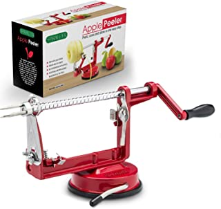Cast Magnesium Apple/Potato Peeler Corer by Spiralizer, Durable Heavy Duty Die Cast..