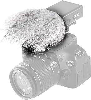 Movo WS9 Protector contra el Viento de Piel para el Aire Libre Micrófono Grande Cañón hasta 7.6cm X 3.8cm (L x D) - Se Adapta al Zoom H4n, H5, H6, Tascam DR-40, DR-05, DR-07 & Micrófonos Similares