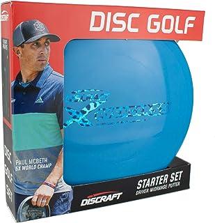 Discraft Starter Pack Beginner Disc Golf Set (3-Pack) 1 Driver, 1 Mid-Range, 1 Putter