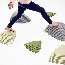 JumpOff Jo Rocksteady Balance Stepping Stones for Kids, Promotes Balance & Coordination, Set of 6 Balance Blocks, Tall Set, Camo Colors