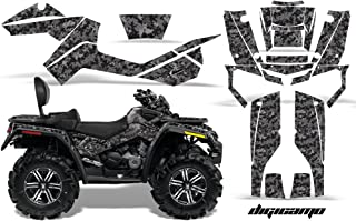 AMR Racing Graphics Can-Am Outlander MAX 500 650 800R 2006-2012 ATV Vinyl Wrap Kit - Digicamo Black
