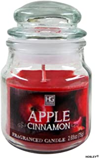 Hosley® Apple Cinnamon Highly Fragranced, 2.65 Oz Wax, Jar Candle