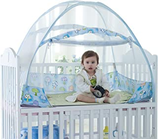Baby Crib Tent Safety Net Pop Up Canopy Cover - Foldable Baby Bed Mosquito Net Tent  sc 1 st  Amazon.com & Amazon.com: crib tents