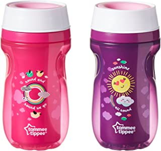 Tommee Tippee Insulated 360 Tumbler, Non-Drip, No Straw, Ergonomic,9 Ounce, 2 Count (Colors May Vary)